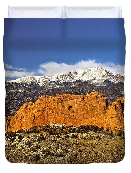 Garden Of The Gods - Colorado Springs Duvet Cover