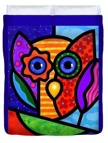 Garden Owl Duvet Cover