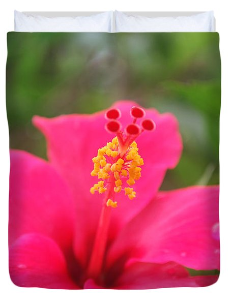 Duvet Cover featuring the photograph Garden Rains by Miguel Winterpacht