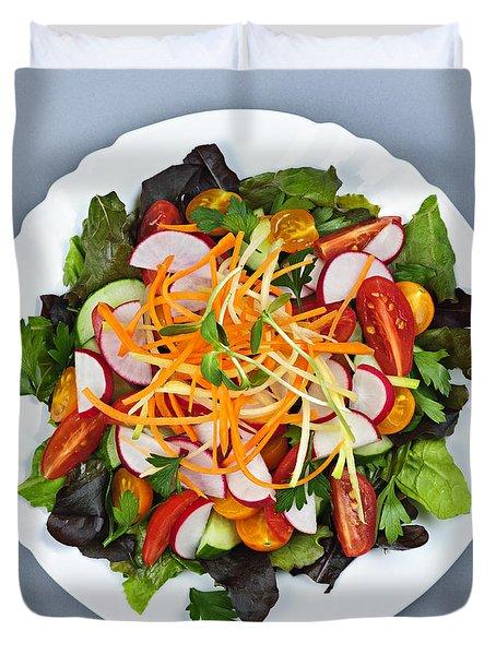Garden Salad Duvet Cover by Elena Elisseeva