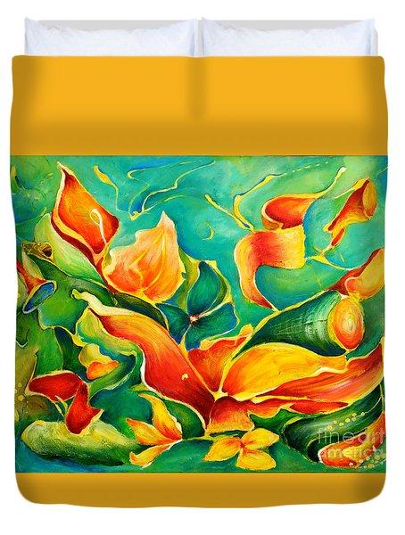 Garden Series No.3 Duvet Cover by Teresa Wegrzyn