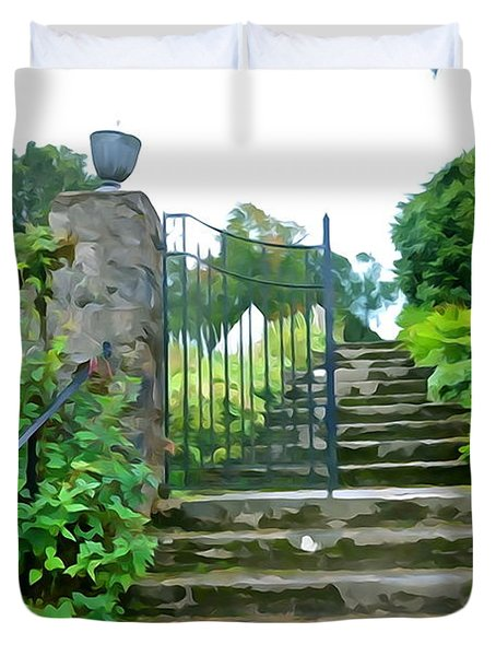 Garden Steps Duvet Cover by Charlie and Norma Brock