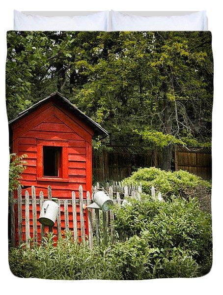 Garden Still Life Duvet Cover by Margie Hurwich