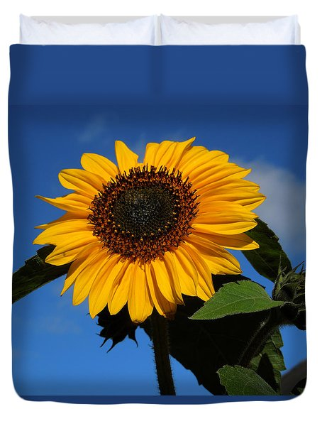 Garden Sunflower October Duvet Cover