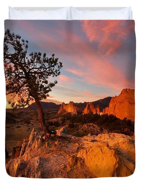 Garden Sunrise Duvet Cover by Ronda Kimbrow