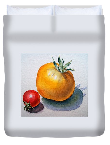 Garden Tomatoes Duvet Cover by Irina Sztukowski