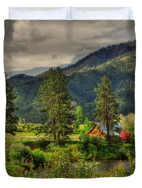 Duvet Cover featuring the photograph Garden Valley by Sam Rosen