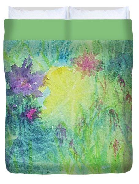 Garden Vortex Duvet Cover by Ellen Levinson