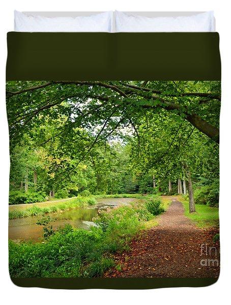 Garden Walk Duvet Cover by Eva Kaufman