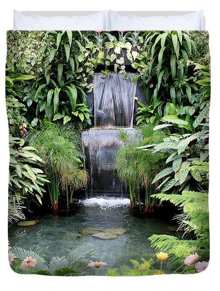 Garden Waterfall Duvet Cover