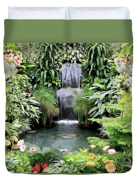 Garden Waterfall Duvet Cover