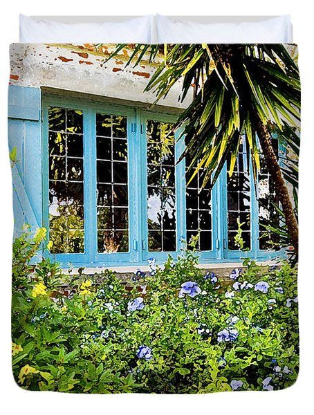 Garden Window Db Duvet Cover by Rich Franco