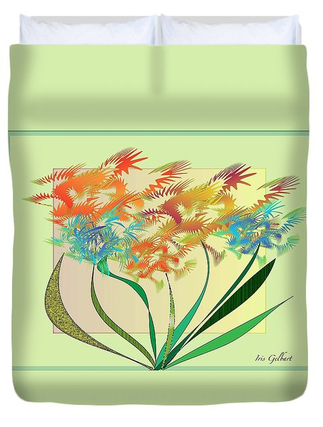 Garden Wonder Duvet Cover by Iris Gelbart