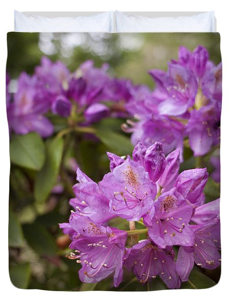 Duvet Cover featuring the photograph Garden's Welcome by Miguel Winterpacht