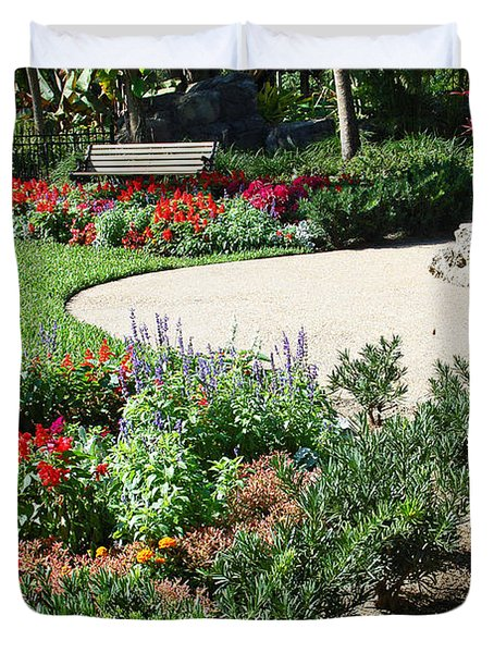 Gardenscape Duvet Cover by Aimee L Maher Photography and Art Visit ALMGallerydotcom