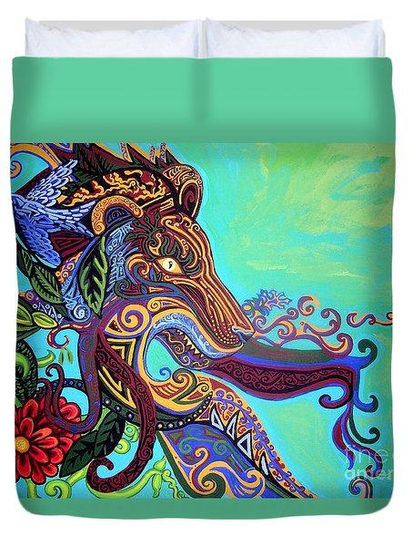 Gargoyle Lion 3 Duvet Cover