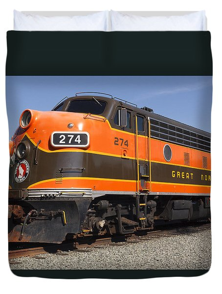 Garibaldi Locomotive Duvet Cover by Wes and Dotty Weber
