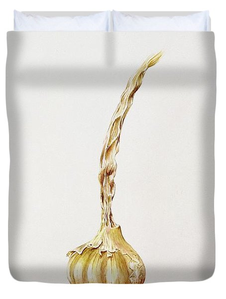 Garlic, 1998 Wc On Paper Duvet Cover by Alison Cooper