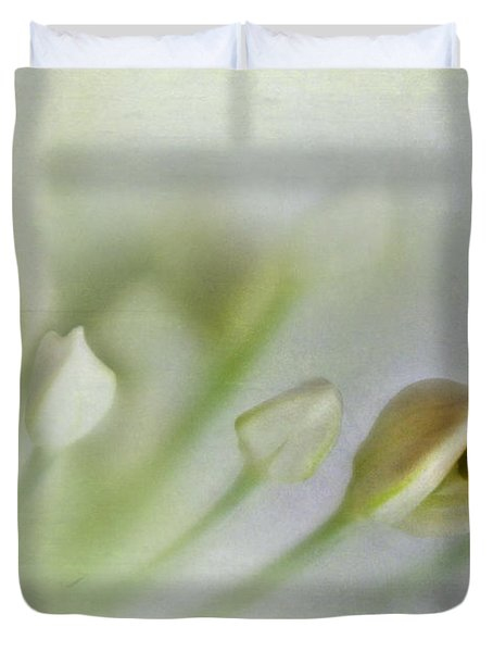 Garlic Chive Blossom Duvet Cover