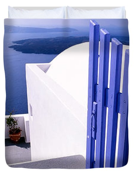 Gate At The Terrace Of A House Duvet Cover