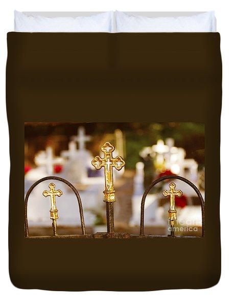 Duvet Cover featuring the photograph Louisiana Cemetery by Luana K Perez