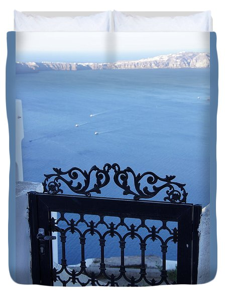 Gated Caldera Duvet Cover by Debi Demetrion
