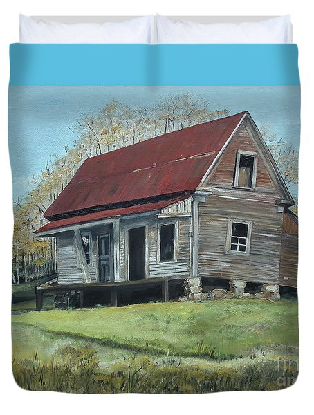 Gates Chapel - Ellijay Ga - Old Homestead Duvet Cover