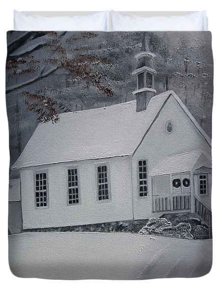Gates Chapel - Ellijay - Signed By Artist Duvet Cover