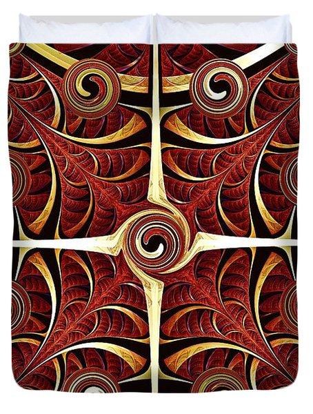 Gates Of Balance Duvet Cover by Anastasiya Malakhova