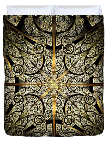 Gates Of Creation Duvet Cover by Anastasiya Malakhova