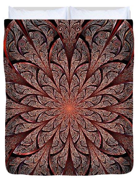 Gates Of Fire Duvet Cover by Anastasiya Malakhova