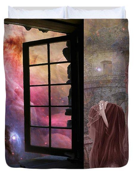 Gates Of Heaven-regarder La Fin Du Monde Duvet Cover