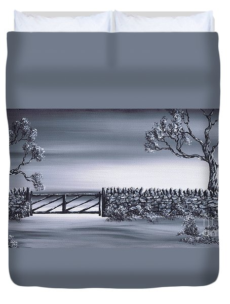 Duvet Cover featuring the painting Gateway 2 by Kenneth Clarke