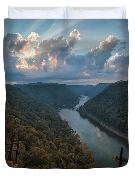Duvet Cover featuring the photograph Gateway To Autumn by Jaki Miller