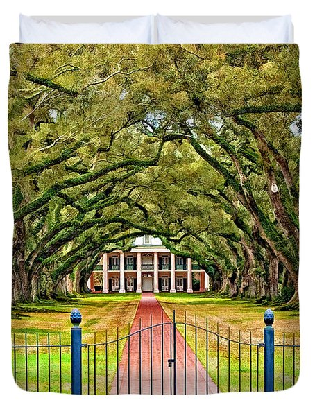 Gateway To The Old South Paint Duvet Cover by Steve Harrington
