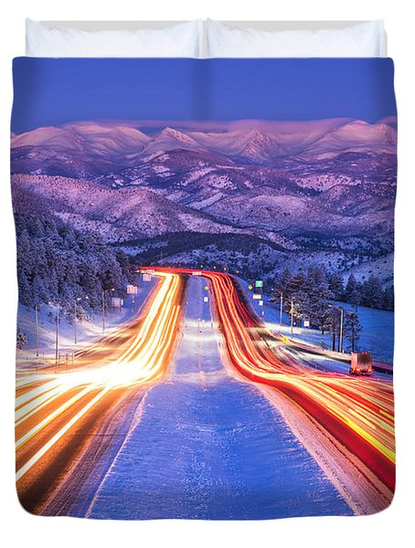Gateway To The Rockies Duvet Cover