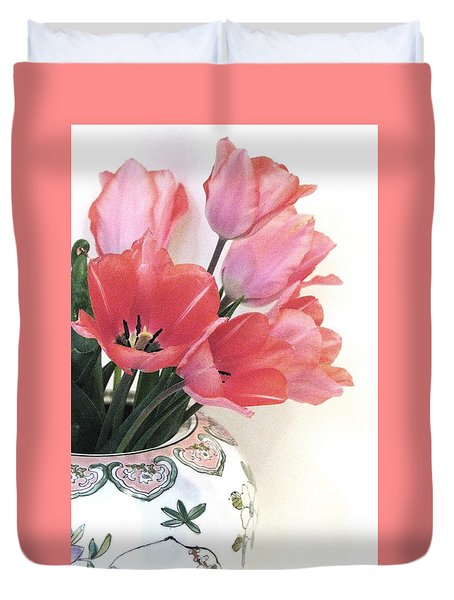 Gathered Tulips Duvet Cover