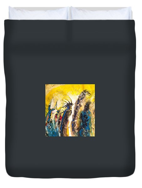 Gathering 2 Duvet Cover by Kicking Bear  Productions