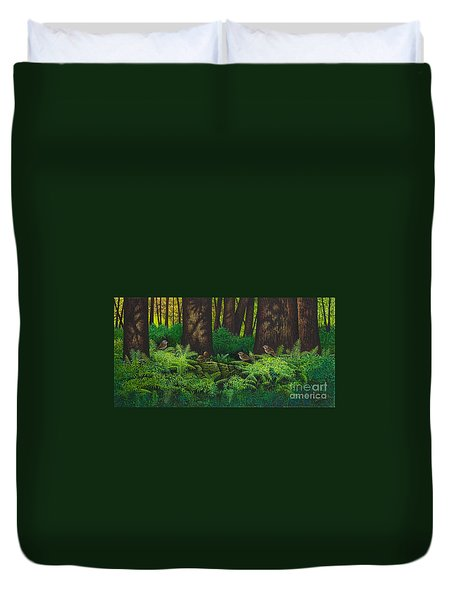 Gathering Among The Ferns Duvet Cover