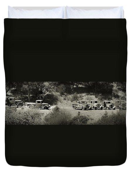 Gathering Black And White Duvet Cover
