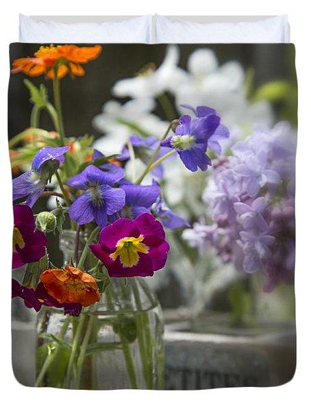 Gathering Wildflowers Duvet Cover by Edward Fielding
