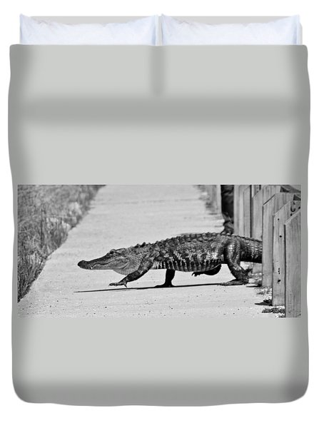 Gator Walking Duvet Cover