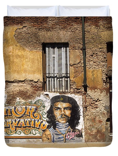 Gaucho Che Promotes Contraception Duvet Cover