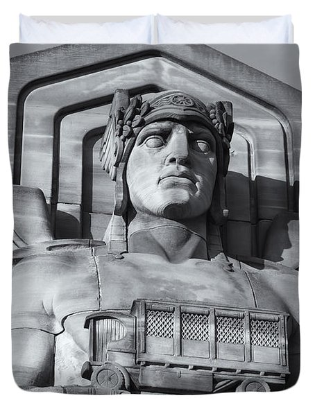 Guardian Of Traffic II Duvet Cover