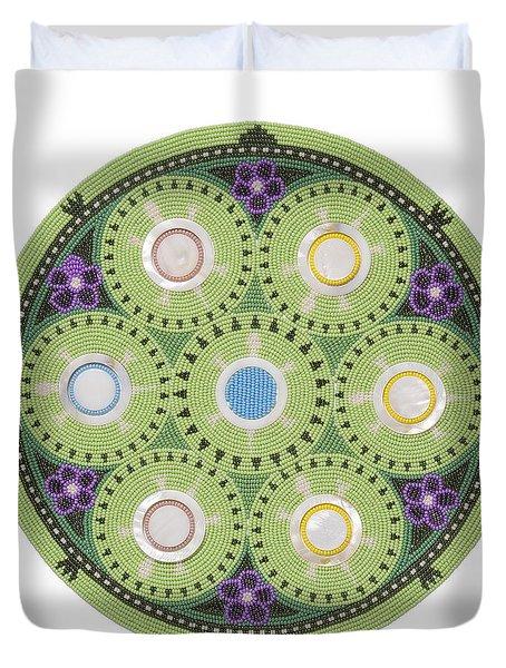 Gavino's Cradleboard Beadwork Duvet Cover