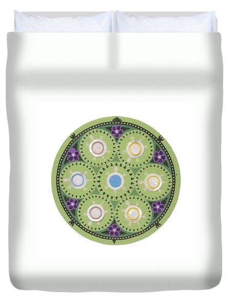 Cradleboard Beadwork Duvet Cover