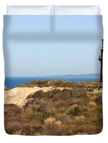 Gay Head Lighthouse Duvet Cover by Carol Groenen