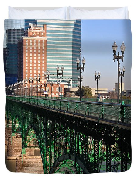 Gay Street Bridge Knoxville Duvet Cover