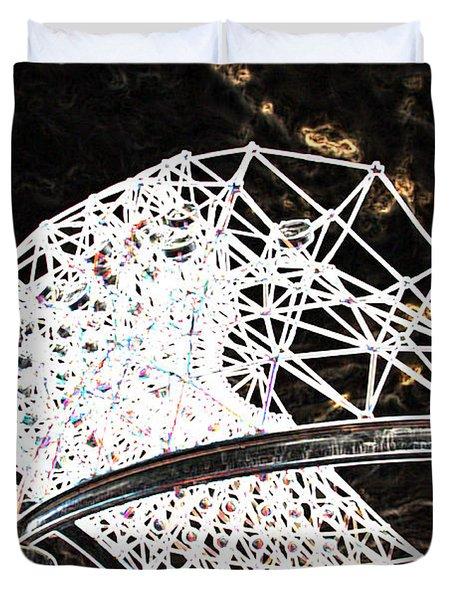 Duvet Cover featuring the photograph Gazebo 3 by Minnie Lippiatt