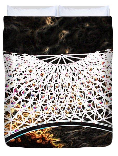Duvet Cover featuring the photograph Gazebo 4 by Minnie Lippiatt